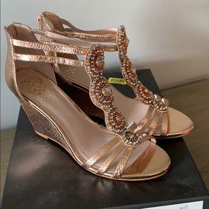 Vince Camuto Rose Gold wedge sandal